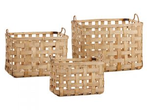 "10.5""H-14""H Basket (3 Ea/set) Natural Brown"