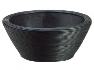 "11.8""Dx5""H Bamboo Bowl Black"