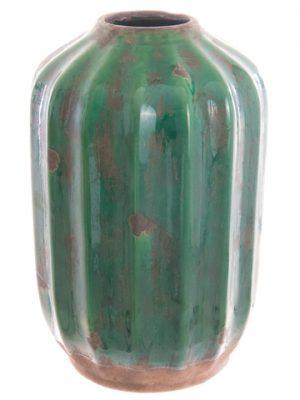 """11.4""""H x 7.2""""D Terra Cotta Pot Green"""