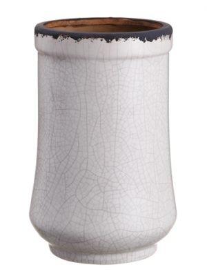 """11""""H x 7""""D Terra Cotta Pot Antique Cream"""