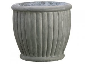 "10.5""H x 12""D Aged Fiber Cement Planter Gray"