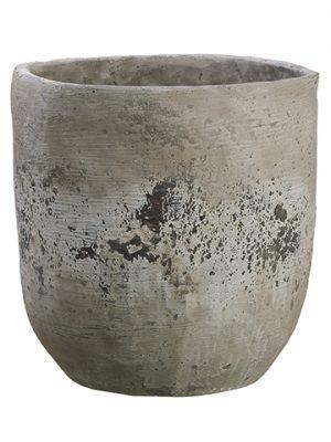 "11.75""H x 11.25""D CementPlanterStone"