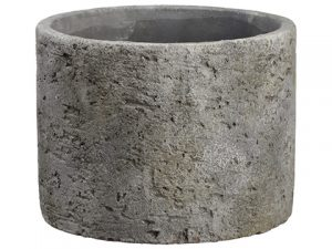 "4.75""H x 6""D Cement Planter Gray"
