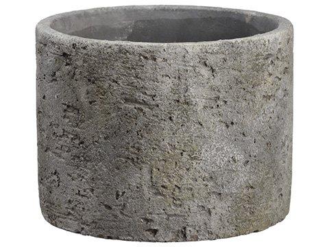 "4.75""H x 6""D Cement Planter Gray"