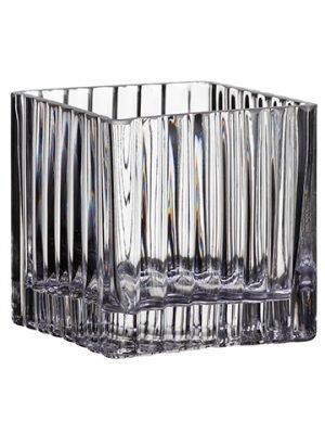 """4""""H x 4""""W x 4""""L Glass Vase Clear"""