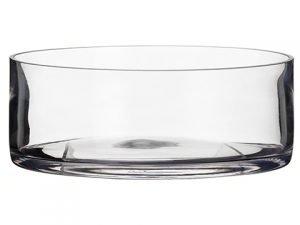 "3.5""H x 9.75""D Glass Vase Clear"