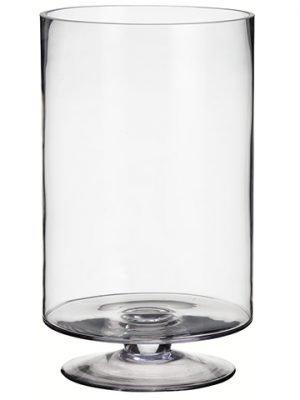 "13.25""H x 8""D Glass Vase Clear"