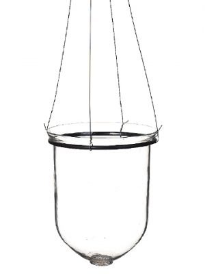 "10.5""H x 8.5""D Hanging Glass Vase Clear"