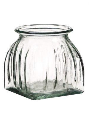 "4""H x 3.75""D Glass Vase Clear"