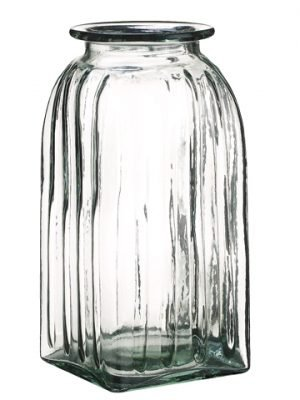 "10.5""H x 5""D Glass Vase Clear"