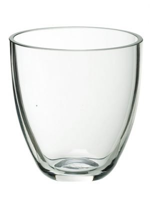 """3.75""""H Glass Vase Clear"""