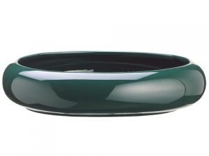 "10""Dx2.5""H Oval Container Green"