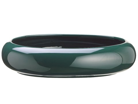 """10""""Dx2.5""""H Oval Container Green"""