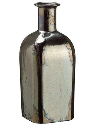 "10.2""H x 4.3""D Ceramic Bottle Pewter"