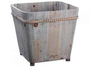 "10.25""H x 11""W x 11""L Wood Container Natural"