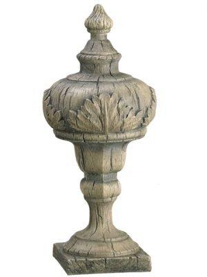 "15"" Finial Table Top Antique Gray"