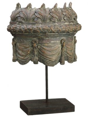 "10.75"" Architectural Ornament Table Top Antique Brown"