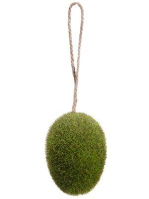 "3"" Moss Egg Ornament Green"