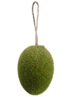 "4"" Moss Egg Ornament Green"