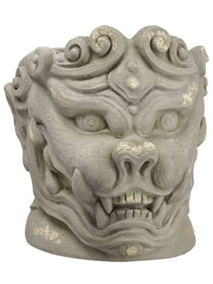 "16.75"" Lion Planter Antique Gray"
