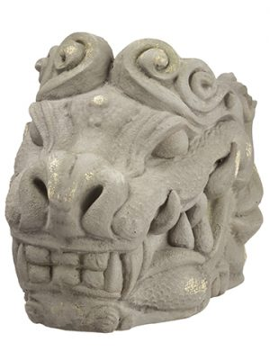 "12.5"" Dragon Planter Antique Gray"