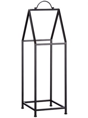 "32""H x 10""W x 10""L Metal Wood Log Rack Black"