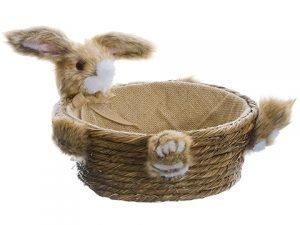 """6"""" Bunny Basket Brown"""