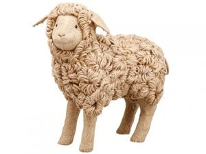 "11.5"" Sheep Brown Whitewashed"