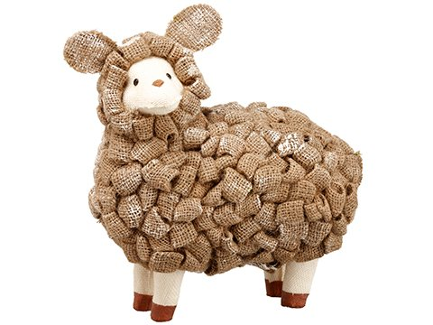"12.5"" Sheep Brown Whitewashed"