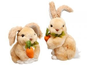 "3.5""-5"" Bunny With Carrot (2 Ea/set) Beige"