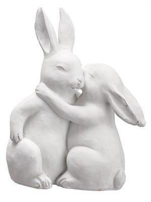 "10"" Poly Resin Bunny White"