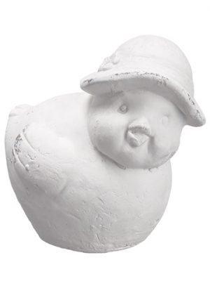 "6"" Cement Chick White"