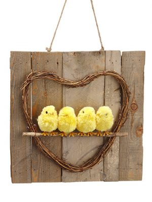 "1.9""H x 12.9""D Chick Wall Decor Yellow"