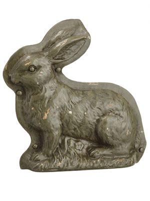 "7.25"" Poly Resin ChocolateMold BunnyGreen Rust"