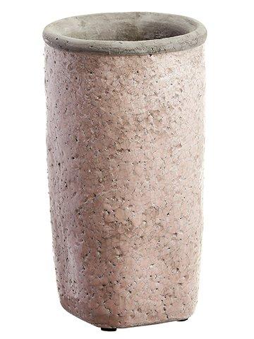 """11""""H x 6""""D Stoneware Planter Antique Pink"""