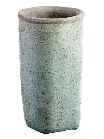 "14.25""H x 8""D Stoneware Planter Antique Green"