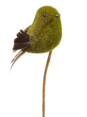 "16"" Moss Bird Spray Green Gray"