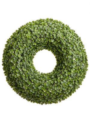 """20"""" Sedum Wreath Green"""