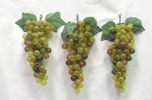 A set of 3 soft touch faux grapes -- XL (90 grapes per cluster)