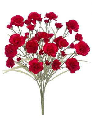 "17.5"" Carnation Bush x7 Red"