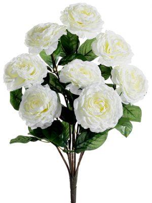 """19"""" Camellia Bush x8 White"""