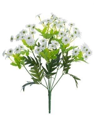 """13"""" Mini Daisy Bush x7 White"""