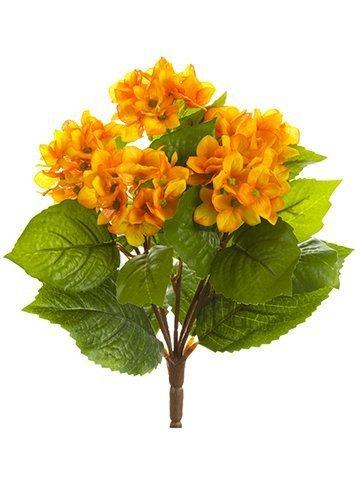 "10"" Hydrangea Bush Orange Yellow"