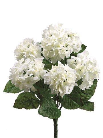 """22"""" Hydrangea Bush x5 Cream White"""