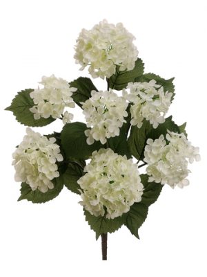 "22"" Hydrangea Bush x7 Cream White"