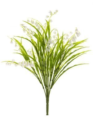 "15"" Lily of The Valley Bush x8 White"