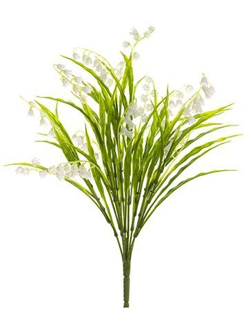 """15"""" Lily of The Valley Bushx8White"""