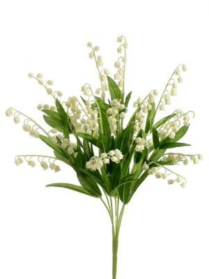 "17"" Lily of The Valley Bush  Cream"