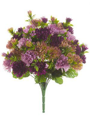 "15"" Mum Bush x24 Amethyst Purple"