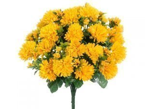 "15"" Mum Bush x24 Yellow"